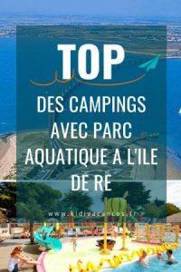 camping ile de ré avec parc aquatique