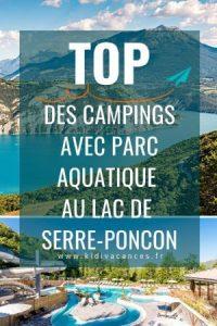 camping lac de serre ponçon parc aquatique